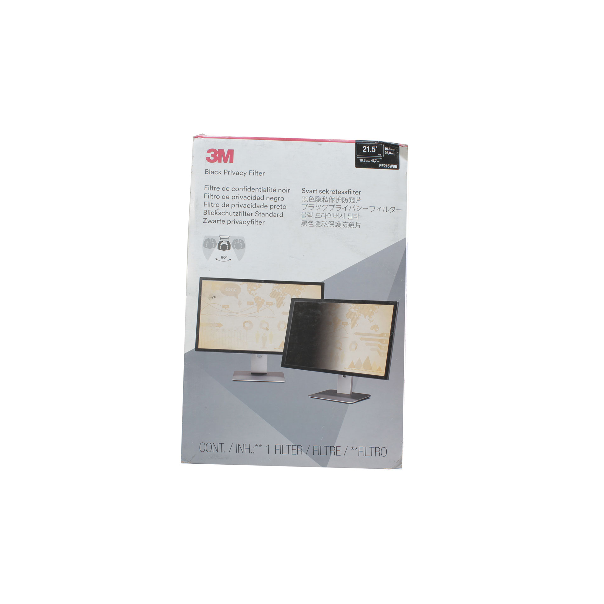 "3M Privacy Filter for 21.5"" Widescreen Monitor PF215W9B"
