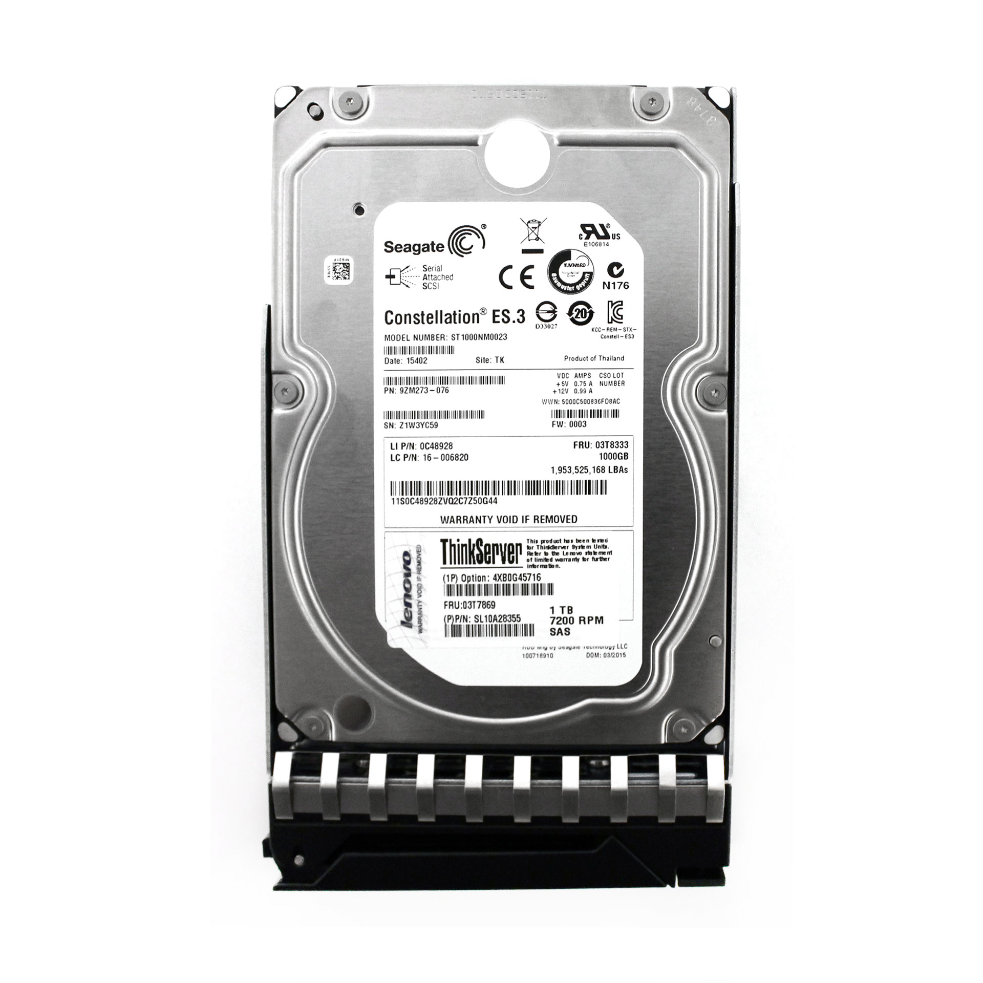 "Lenovo Seagate Constellation ES.3 1TB ST1000NM0023 3.5"" HDD"