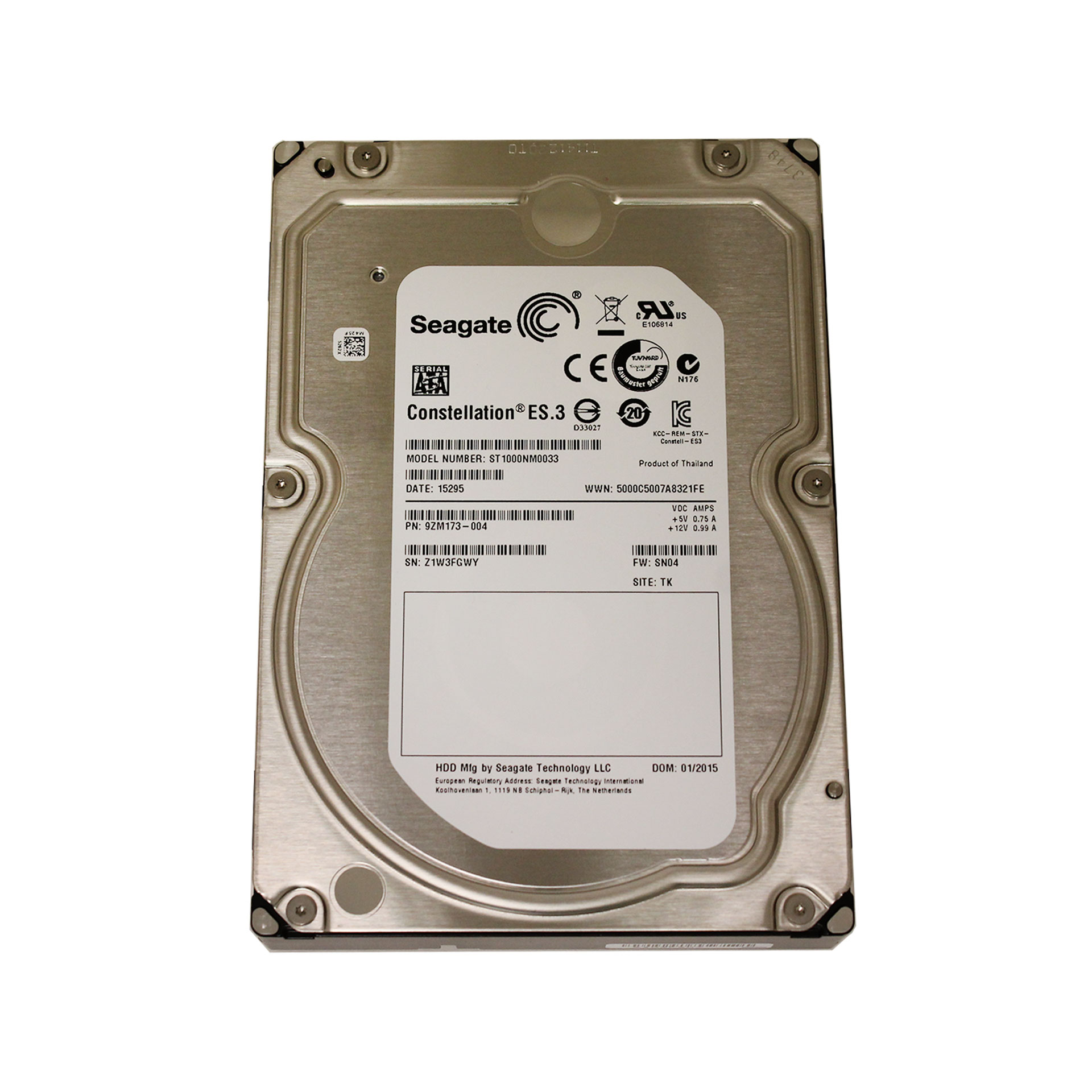 "Seagate Constellation ES.3 HDD 1TB ST1000NM0033 3.5"" SATA 6Gb/s"