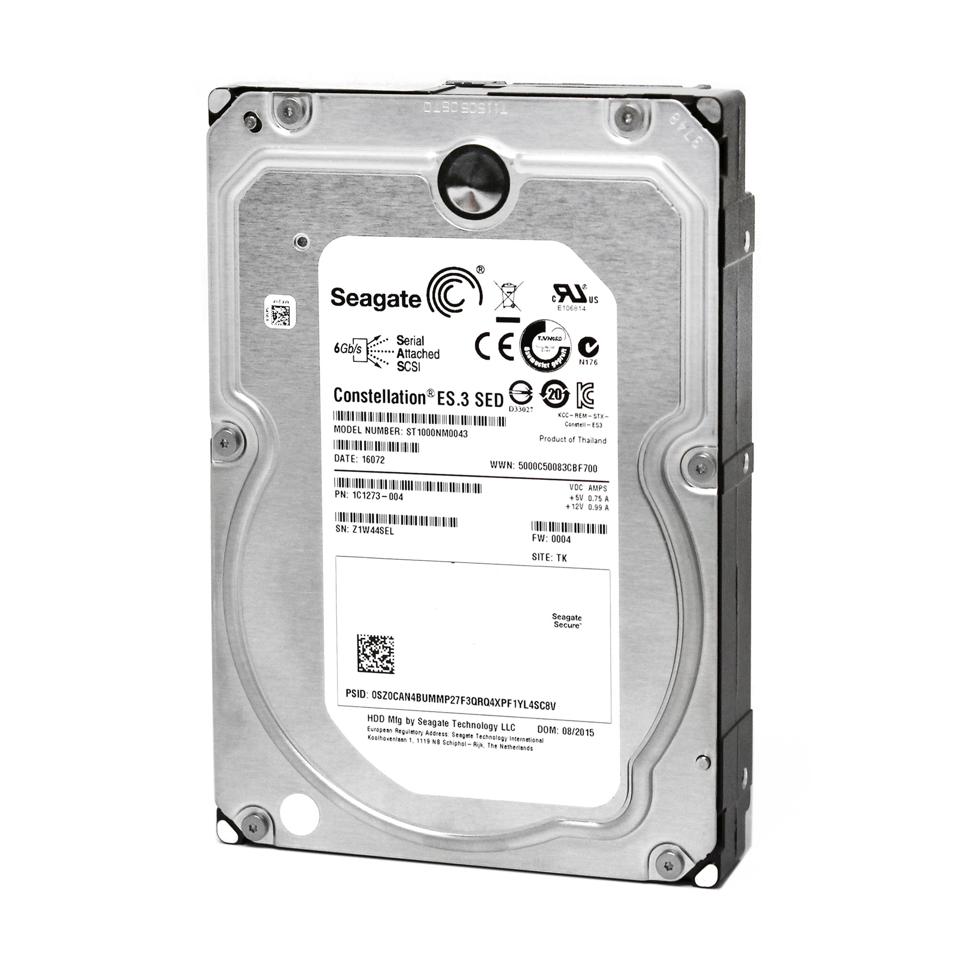 "Seagate 1TB 1C1273-004 ST1000NM0043 6GB/s 3.5"" Hard Drive"