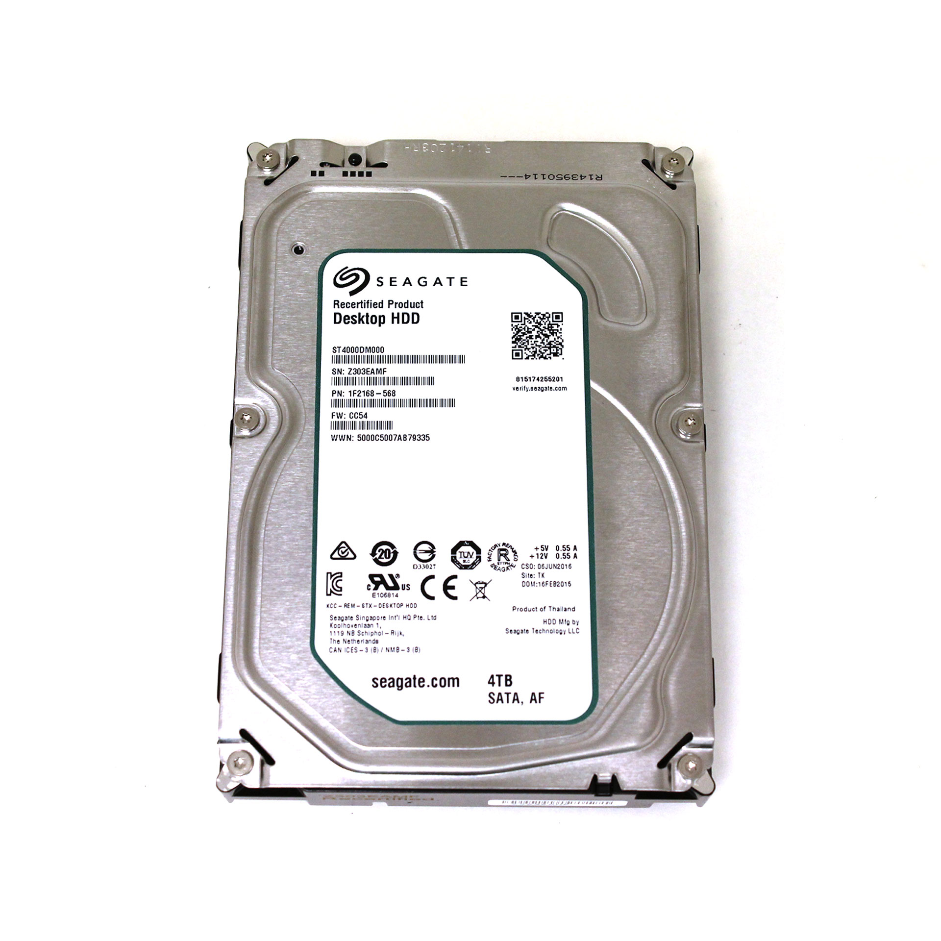 Seagate 4TB Desktop HDD.15 Internal HDD 5900 RPM ST4000DM000
