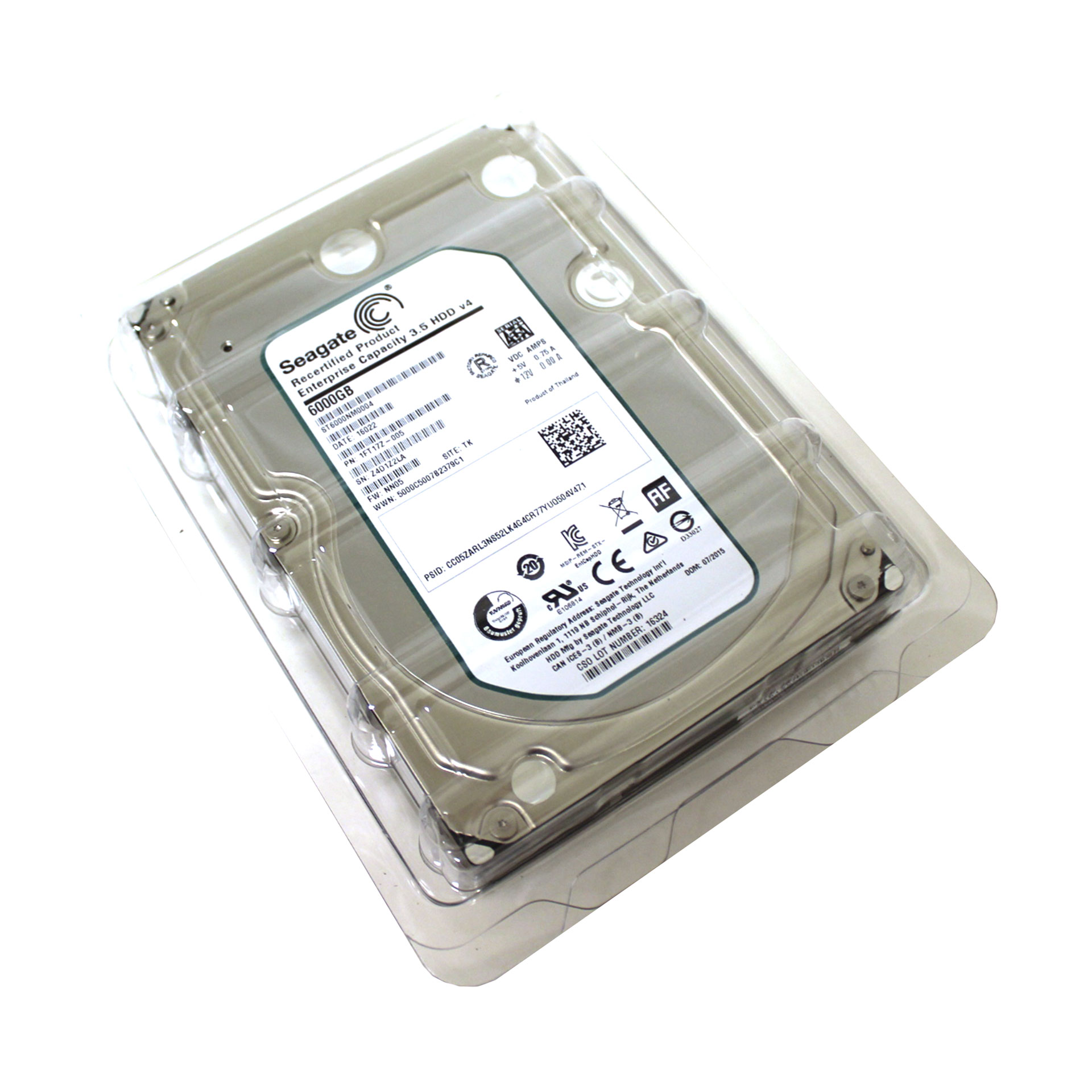 "Seagate Enterprise HDD 6TB ST6000NM0004 3.5"" SATA 6.0Gb/s 7.2K"