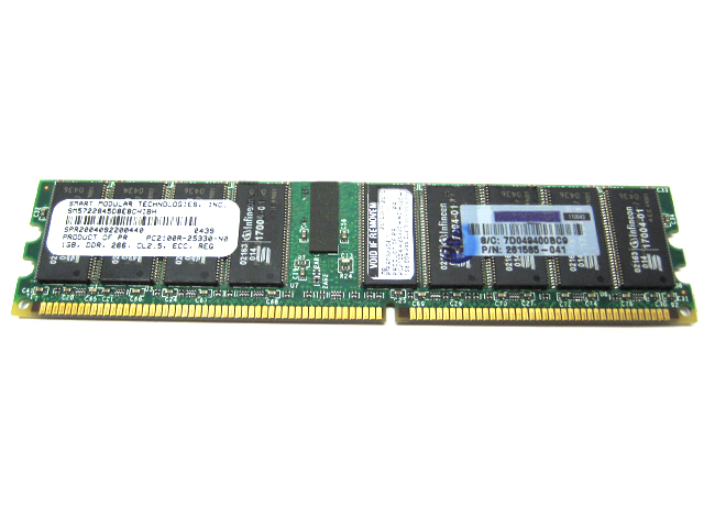 1GB Smart Modular PC2100 266MHz DDR ECC REG SM5722845D8E8CHIBH
