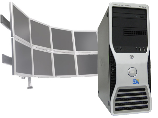 Dell Precision T3500 Xeon 2.26Ghz 8GB 8 Multi-Monitor Computer
