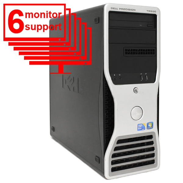 Dell Precision T5500 Trading PC 6 Monitor Xeon E5506 8GB 1TB HDD