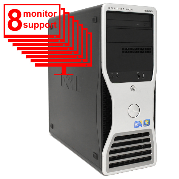 Dell Precision T5500 Trading PC 8 Monitor Xeon E5506 8GB 1TB HDD
