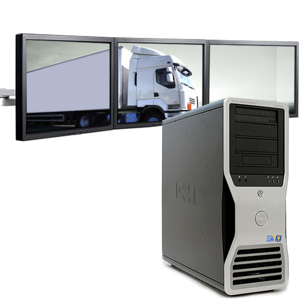 3 Monitor Dell Precision PC T7500 500GB for Logistics Dispatch