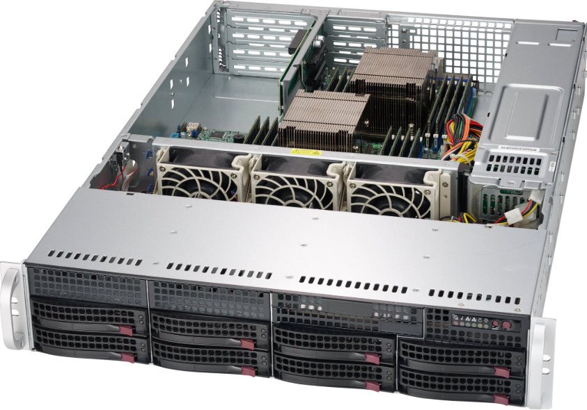 Supermicro SC825 TQ-R740WB RM 2U SAS, no MB, with 2 x PSU