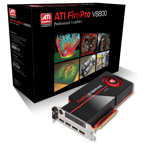 Retail ATI FirePro V8800 2GB Professional Video Rraphics Card