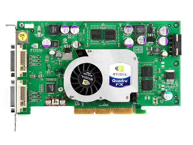 PNY nVidia Quadro FX 1100 FX1100, VCQFX1100, AGP, DVI,Video Card