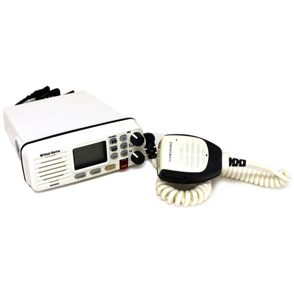 West Marine VHF550 White DSC Transceiver Radio LCD Fixed-mount