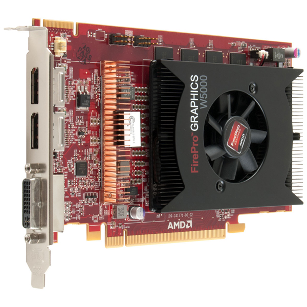 AMD FirePro W5000 2GB PCIe DisplayPort DVI Video 100-505635 4K