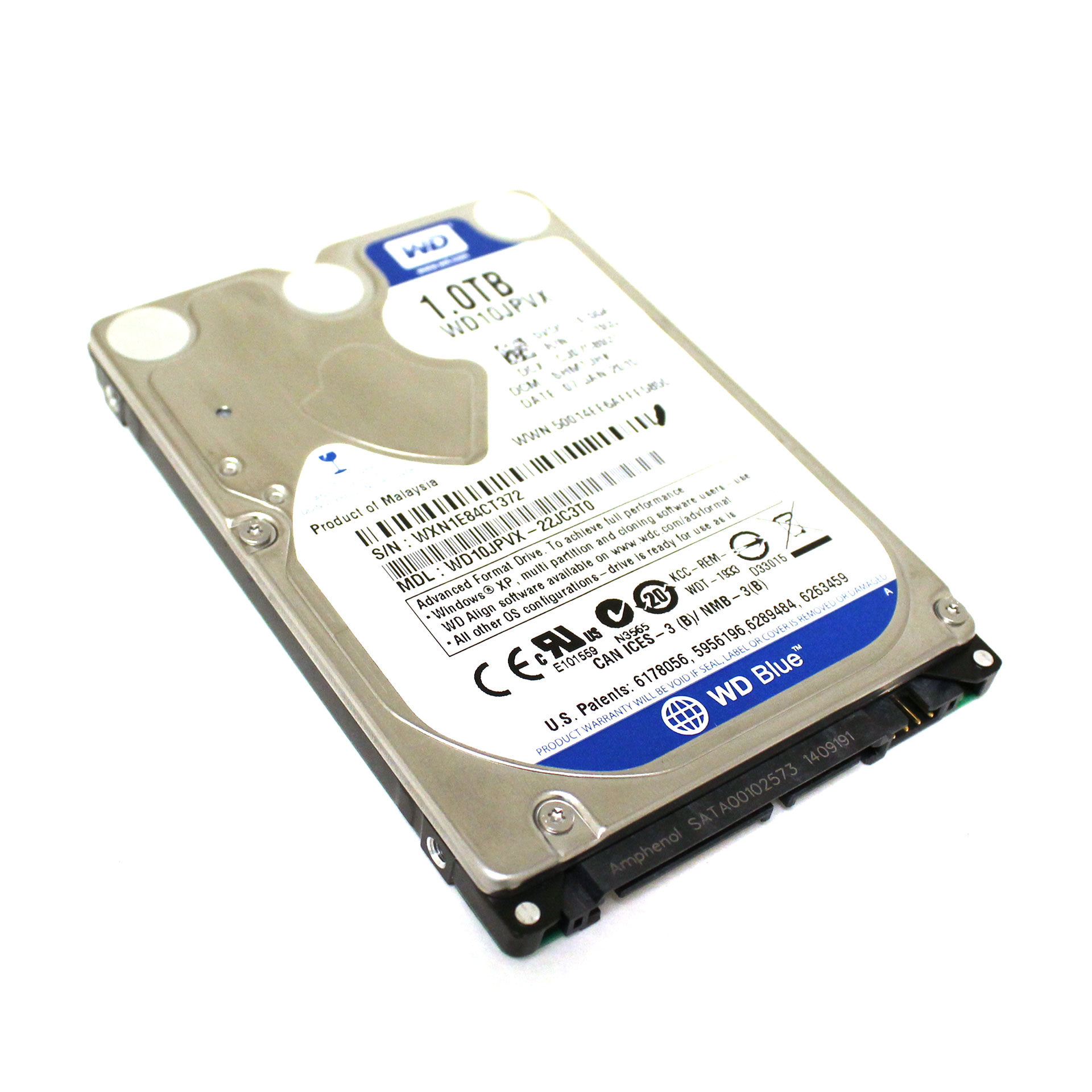 Western Digital Blue HDD 1.0TB 9.5mm WD10JPVX-22JC3T0 2.5 ...