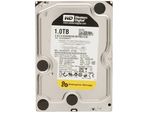 "WD 1TB RE4 SATA 7200 RPM 3GB/s 64MB Cache 3.5"" HDD WD-1003FBYX"