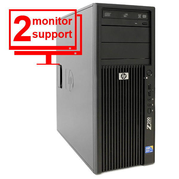 HP Z200 Workstation FL980UT Intel Xeon QC 2.53GHz 4GB 500GB