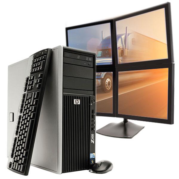 4 Display Trading Workstation : Professional Multi Monitor