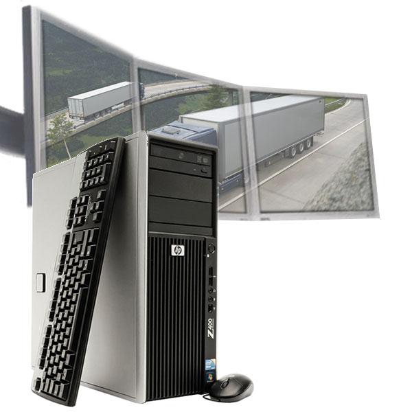 Multi-monitor HP Z400 PC Desktop for Logistics Dispatch [Z400