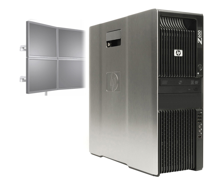 HP Z600 Workstation VA805UT Intel E5620 2.40GHz/ 250GB / V5900