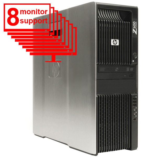 Trading 8 Monitor HP Workstation Z600 2x E5506 8GB 500GB Win7