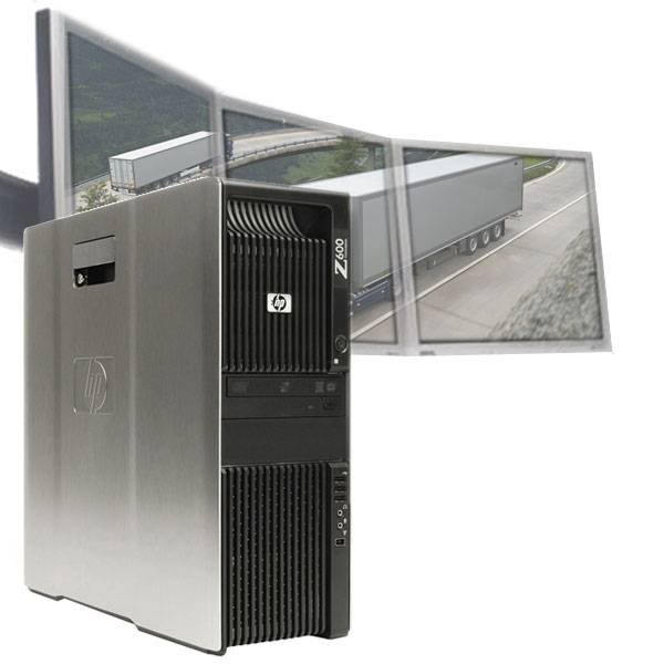 Multi-monitor HP Z600 PC 6GB 250GB for Dispatching Logistics