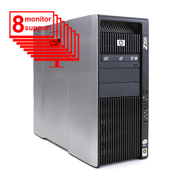 HP Z800 Multi 8-Monitor Computer/PC 6-Core/ 12GB/ 1TB/ NVS 440