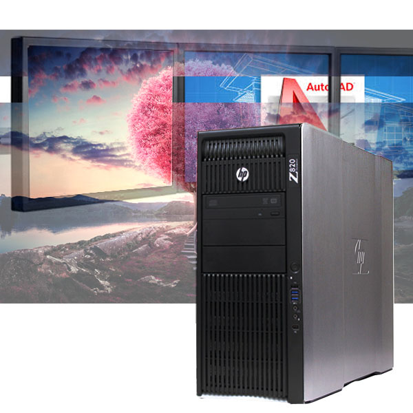 HP Z820 CAD Workstation 256GB SSD+ 2TB HDD/ 24GB / 3D Modeling