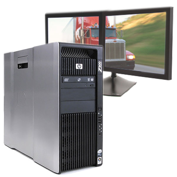 HP Z800 Computer 2.26 GHz CPU 8GB 250GB PC for Logistics