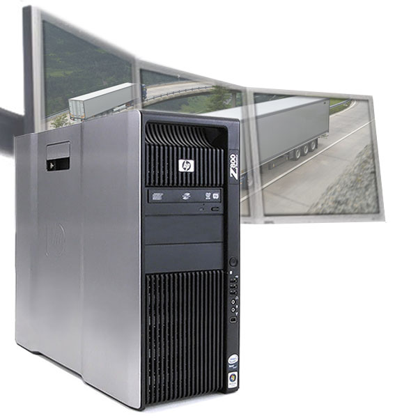 HP Z800 Computer PC 3 Monitors 500GB for Logistics Dispatch