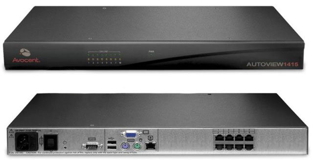 Avocent AutoView AV1415-001 8-port Single User KVM Switch