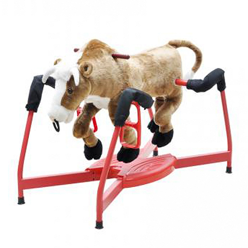Radio Road Toys Spring Bull with Sound & Motion Animal Rocker