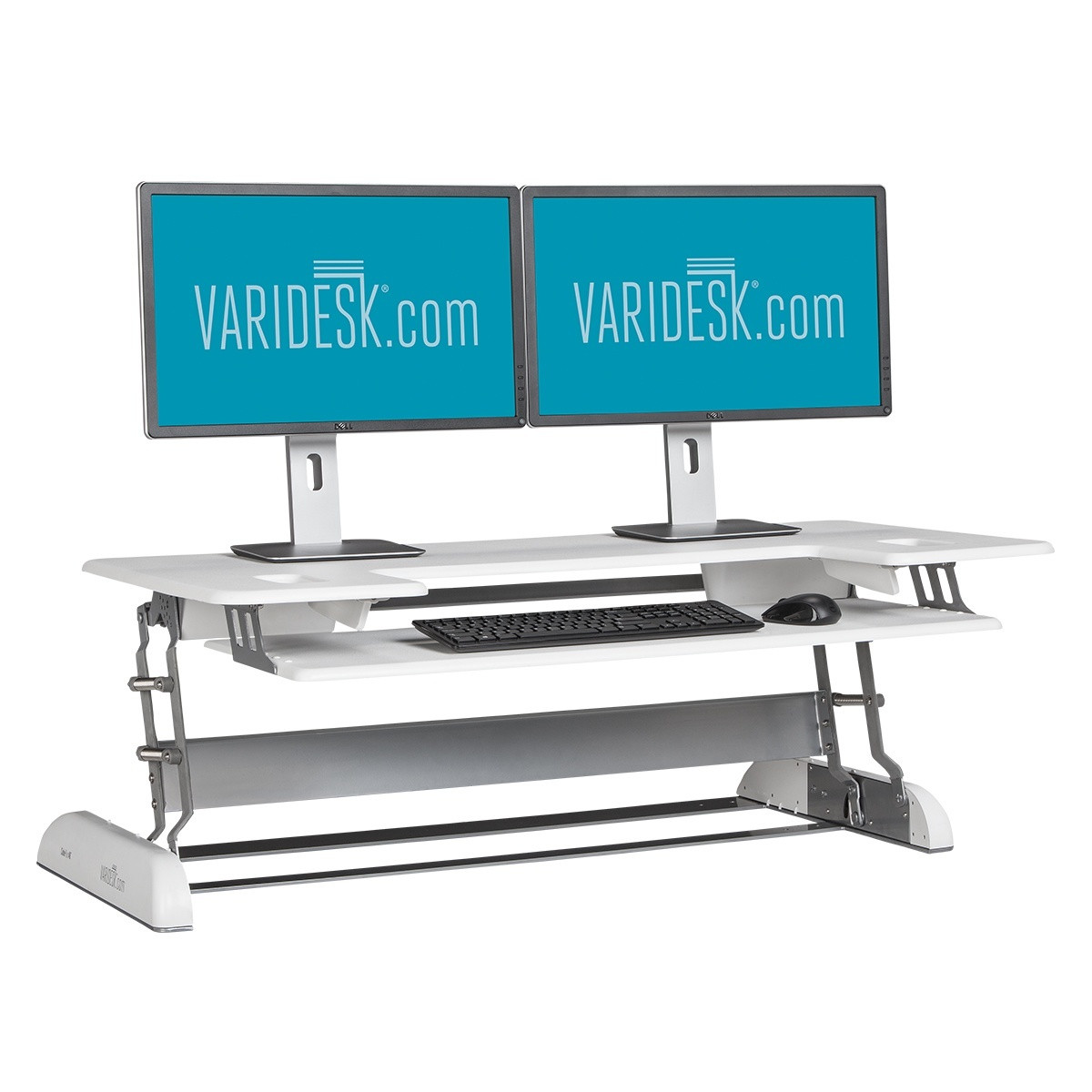 VARIDESK Height-Adjustable Standing Desk for Cubicles Cube Plus