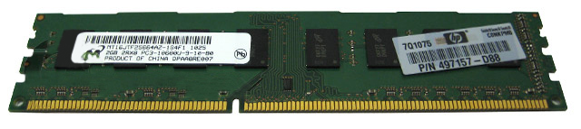 Micron 2GB PC3-10600 DDR3 10600 Desktop Memory RAM 497157-D88
