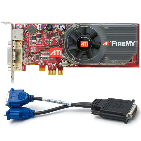ATI FireMV 2250 256MB Dual Monitor PCI-E x1 Video Graphics Card
