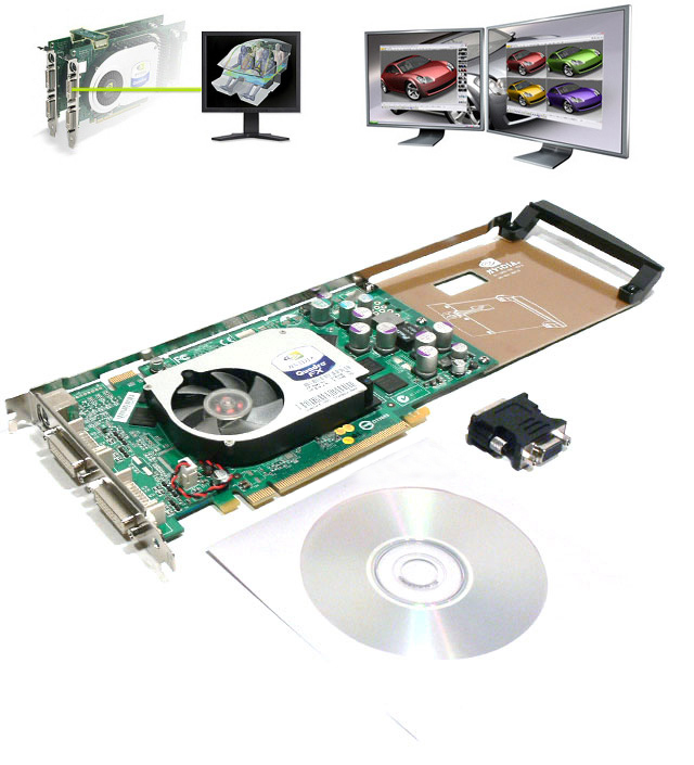 nVidia Quadro FX 1400 PCI-Express,128MB DDR Video Card DVI
