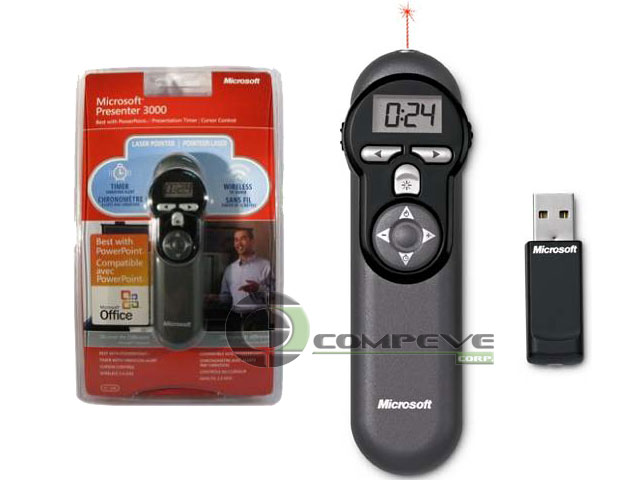 Microsoft Wireless Presenter 3000 Laser Pointer, Office 72D00001