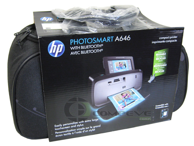 HP Photosmart A646 Compact Home Photo Printer Bluetooth + Ink