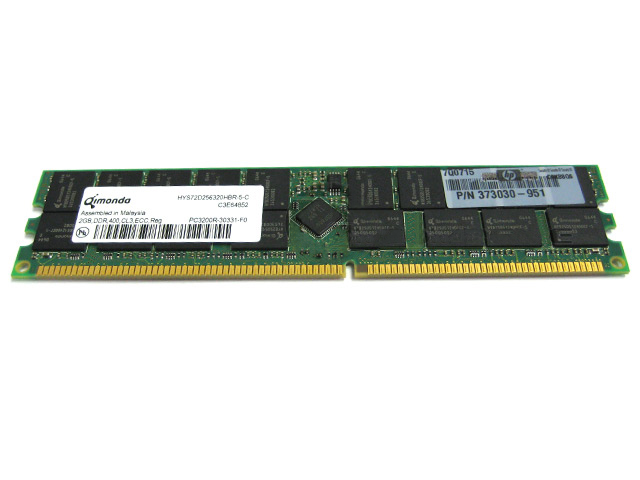 Qimonda/HP 2GB PC2-3200 DDR2 Workstation Memory RAM 373030-951
