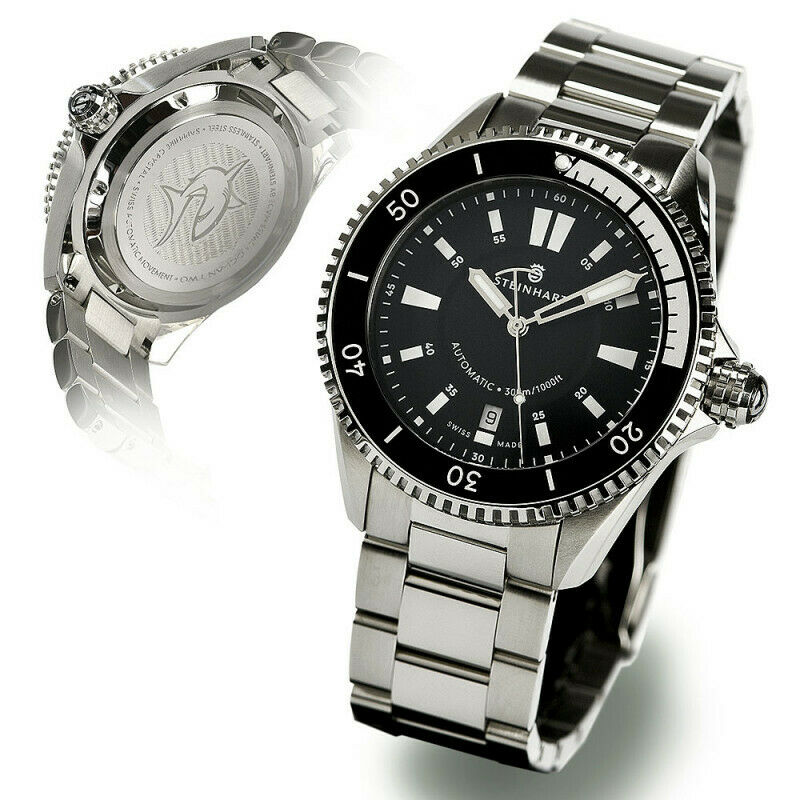 Steinhart Ocean Two 2 Ceramic Black Automatic 42mm Swiss Diver Watch Sapphire