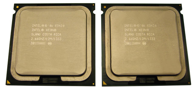 Matched Pair Intel Xeon Quad-Core 2.66GHz 12MB 1333 E5430 CPU