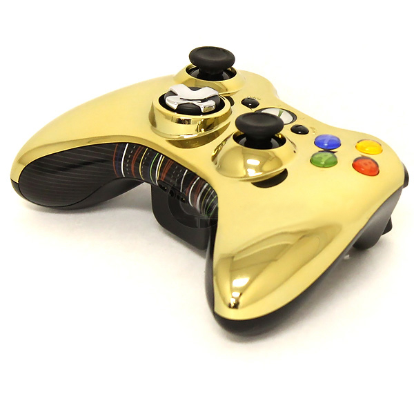 XBOX 360 Wireless Controller Chrome Gold Star Wars Edition C-3PO