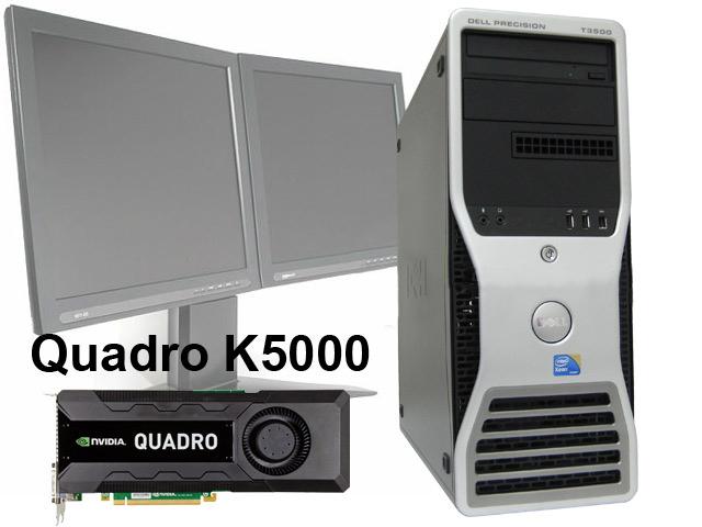 HP Nvidia Quadro K5000 4GB PCIe 2xDVI 2xDP Graphics Card