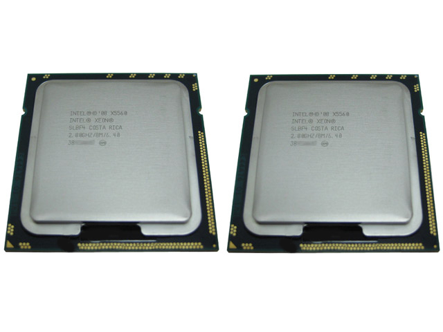 Pair Of Intel Xeon X5560/SLBF4 2.8GHz Quad Core Processors CPU's