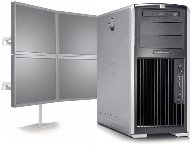 HP XW8200 Workstation Dual 2.8GHz/4GB/80GB/NVS 440 4 Monitors